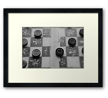 Your Move, Checkers Framed Print