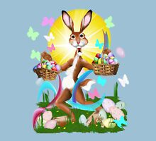 Jack Rabbit Express Easter Womens Fitted T-Shirt