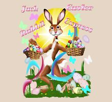 Jack Rabbit Express Easter-text Womens Fitted T-Shirt