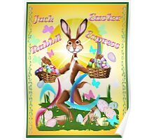 Jack Rabbit Express Easter-text Poster