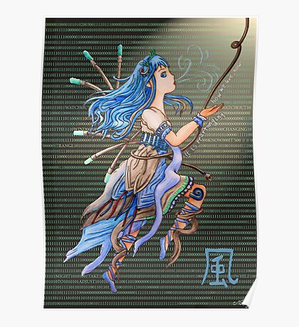 Element Pixie Series- Wind Poster
