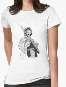 Ghost of Jimi Hendrix Womens Fitted T-Shirt