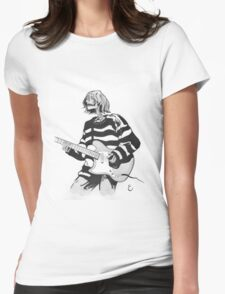 Ghost of Kurt Cobain Womens Fitted T-Shirt