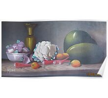 still life painting with fruits and vegitables 65,000 Rs Poster
