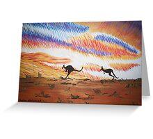 Kangaroos of Colour Greeting Card