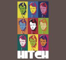 Christopher Hitchens - poster boy of atheism? (dark blazer print) by poparartzi