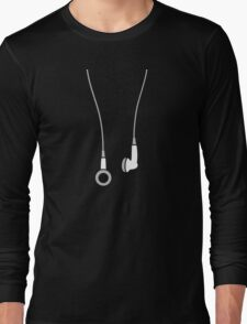 Earphones Long Sleeve T-Shirt