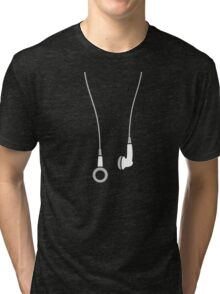 Earphones Tri-blend T-Shirt