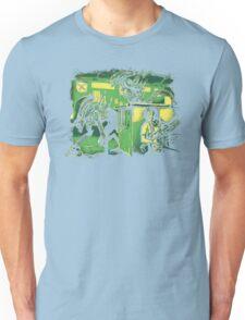 Jurassic Xenomorphs Parody Mashup Unisex T-Shirt