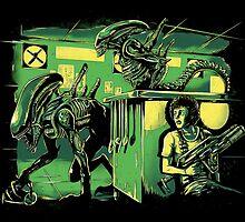 Jurassic Xenomorphs Parody Mashup by barrettbiggers