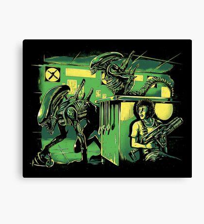 Jurassic Xenomorphs Parody Mashup Canvas Print