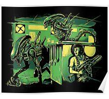 Jurassic Xenomorphs Parody Mashup Poster
