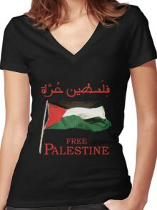 Free Palestine 2013 t shirts, stickers and cases Women's Fitted V-Neck T-Shirt