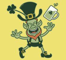 Euphoric Leprechaun Celebrating St Patrick's Day Kids Clothes