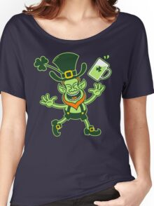 Euphoric Leprechaun Celebrating St Patrick's Day Women's Relaxed Fit T-Shirt