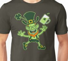 Euphoric Leprechaun Celebrating St Patrick's Day Unisex T-Shirt