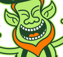 Euphoric Leprechaun Celebrating St Patrick's Day Sticker