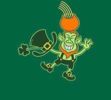 Green Leprechaun Balancing a Pot on his Head Womens Fitted T-Shirt