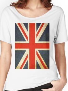 Grunge Effect Union Jack Women's Relaxed Fit T-Shirt