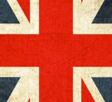 Grunge Effect Union Jack Sticker
