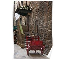 Red Cart Poster