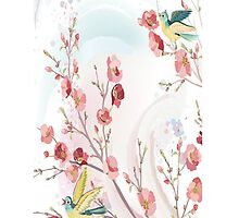 Birds and Cherry Blossoms iPhone iPod Case by wlartdesigns