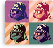 Darth Kitty Pop - Pastel Canvas Print