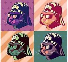 Darth Kitty Pop - Pastel Photographic Print