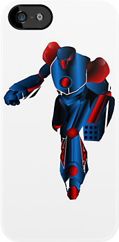Cool Robot iPhone iPod Case by wlartdesigns