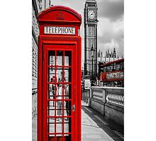 London Calling iPhone iPod Case by wlartdesigns