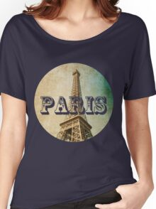 old fashioned paris The Eiffel Tower  Women's Relaxed Fit T-Shirt
