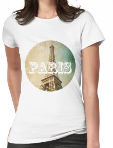 old fashioned paris The Eiffel Tower  Womens Fitted T-Shirt