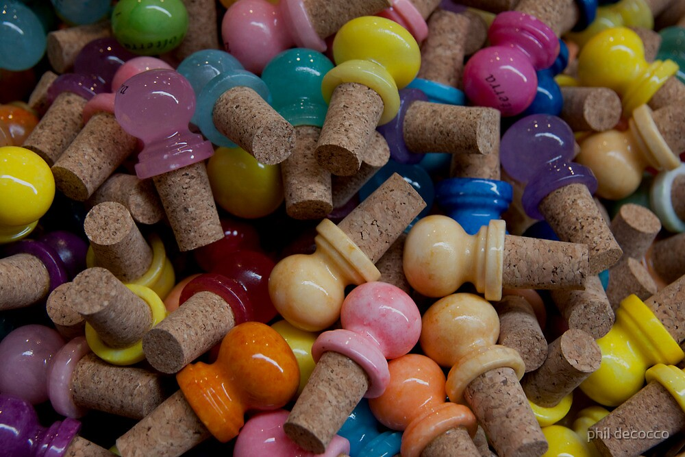 Colorful Corks by phil decocco