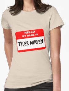 My Name Is Tyler Durden Womens Fitted T-Shirt