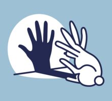 hand shadow rabbit Kids Tee