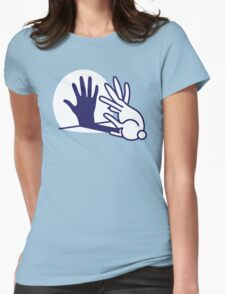 hand shadow rabbit Womens Fitted T-Shirt