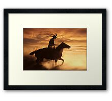 The Cowboy Framed Print