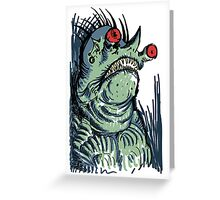 Scary Goblin Greeting Card