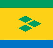 Saint Vincent and the Grenadines Flag by pjwuebker