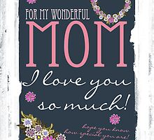 Mother's Day Card For Mom Trendy Design by Moonlake