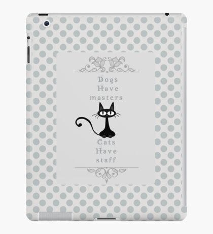 Black Cat  Retro for ipad iPad Case/Skin