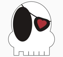 White Skull with Eye Patch by cajunpygmy