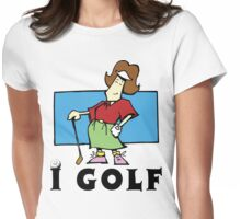 I Golf Women's Womens Fitted T-Shirt