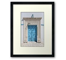 old Blue door Framed Print
