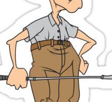 Golfer Senior Citizen Sticker