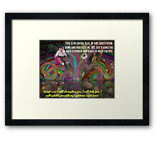 God's Righteous Right Hand Protects Our Precious Children Framed Print