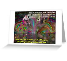 God's Righteous Right Hand Protects Our Precious Children Greeting Card