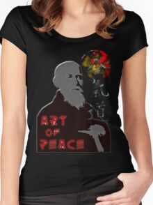 Art of peace ver. 2 Women's Fitted Scoop T-Shirt
