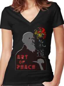 Art of peace ver. 2 Women's Fitted V-Neck T-Shirt