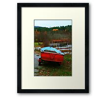 Red Boat Blue Waters Framed Print